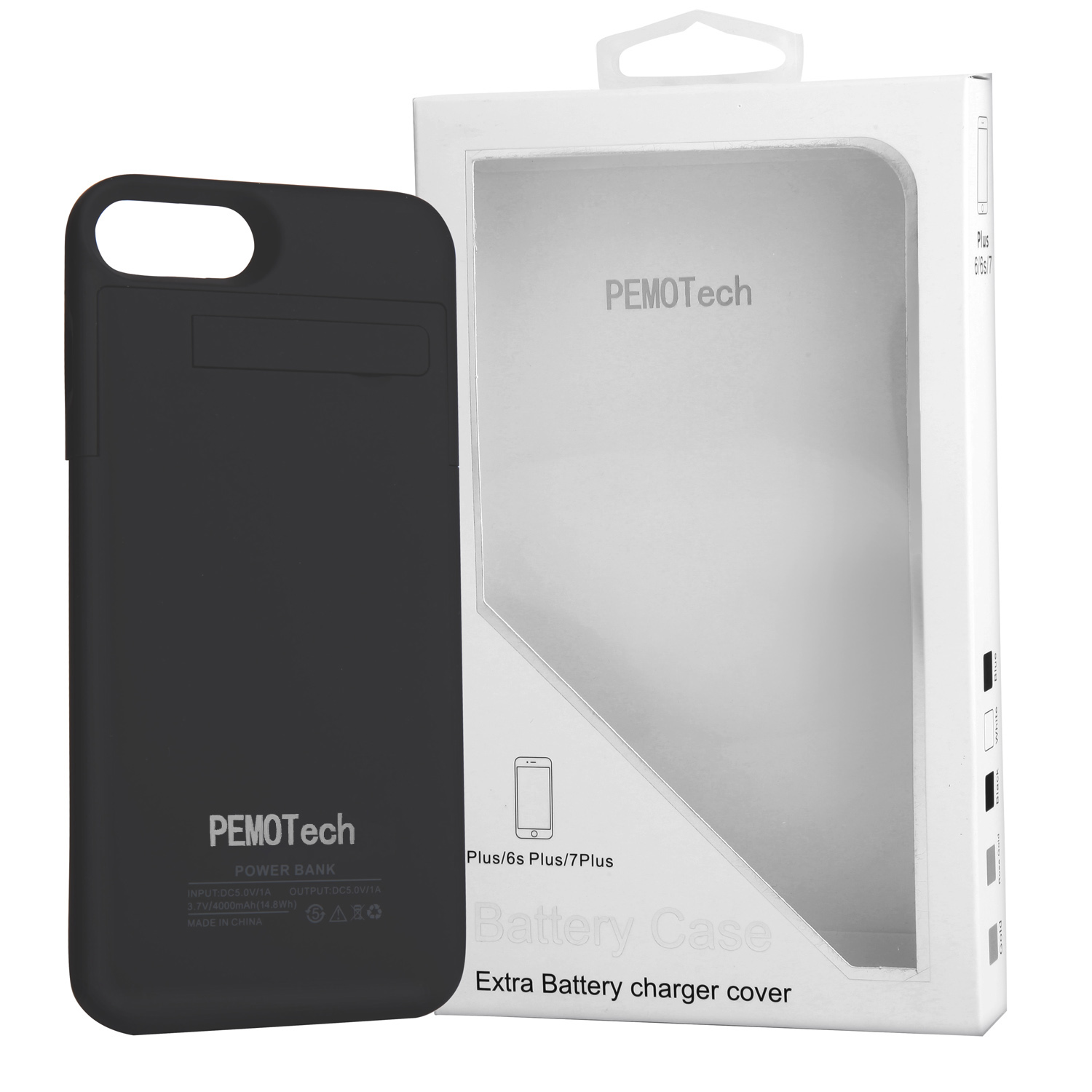 PEMOTech Energy Series 4800mAh Kickstand Battery Charger Case for iPhone 6 Plus / 6s Plus - Black
